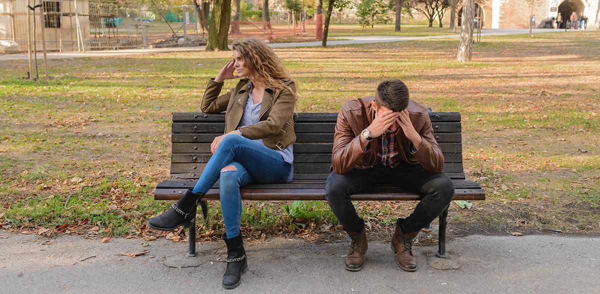 Stress bei Mann und Frau (digitalanders)