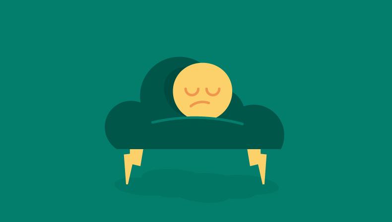 Graphische Darstellung der Traurigkeit auf dem Stuhl